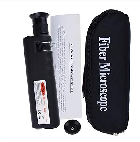 Lysee Fiber Optic Equipments - Microscope-Inspection Adaptor-Fiber Magnification Handheld Mini 400x Connector - (Color: White)