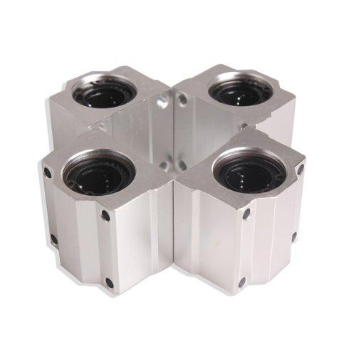 Vktech 4 Pcs SC20UU 20mm Aluminum Linear Motion Ball Bearing Slide Bushing for CNC