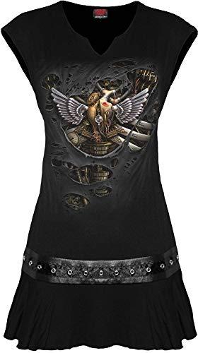 Spiral Direct Damen Steam PunkT-shirt, Schwarz (Black 001), 38 (Herstellergröße: Medium)