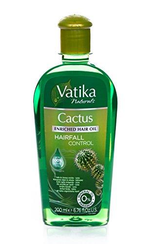 Vatika Naturals Kaktus-angereichertes Haar-Öl (Haar-Fall-Steuerung) 200ml, 1er Pack