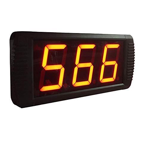 ZhenHe LED de alarma Relojes digitales de 4 pulgadas LED Intervalo de Entrenamiento temporizador de cuenta regresiva Cronómetro (Color: Negro, Tamaño: 35X10X4CM) Adecuado para el hogar, oficina, niños