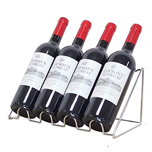 Wine Rack, 4/5/6 Bottiglia di Vino Mensola in Piedi, Minimalista Design, Vino Shelf Governo, for Le Decorazioni Natalizie (Size : 4 Bottle)