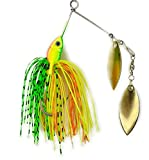 Bass Spinnerbait - 5 Pcs Bearded Fishing Lures Spinner Baits, with Container