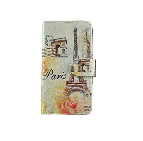 Oli Design Handytasche Tasche für iPhone 6 6S Cover Etui Hülle Eifelturm Paris org
