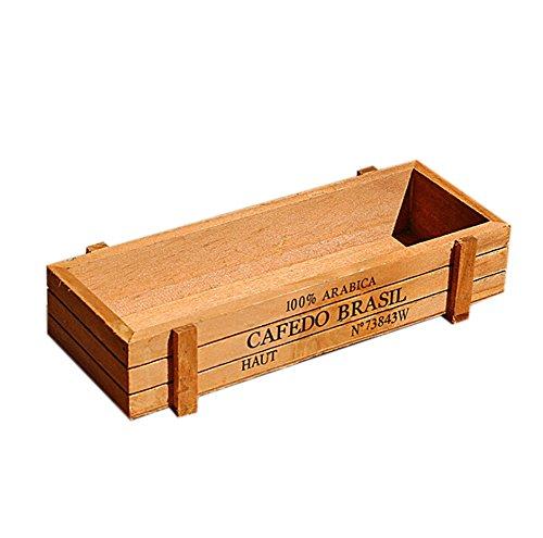 Dylandy Pflanztrog aus Holz, für den Garten, rechteckig, für Sukkulenten, Pflanzgefäß, Box für den Außenbereich