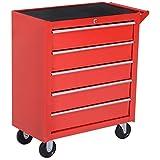DURHAND 5 Drawer Roller Tool Cabinet Storage Box Workshop Chest Garage Wheeling Trolley