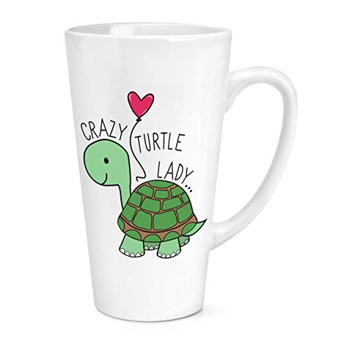 Crazy Tortue Lady 17oz Large Latte Tasse Mug