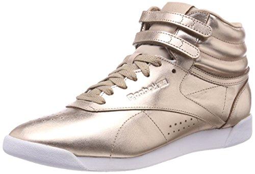 Reebok F/S HI Metallic, Zapatillas de Deporte para Mujer, Rosa (Rose Gold/White/Silver Peony 000), 36 EU