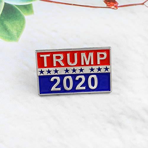 QISKAII Trump 2020 Symbol Abzeichen Gutschein Star Eintrittskarten Coole Poker Brosche Mantel Jacken Rucksack Anstecknadeln Filmfans Geschenke