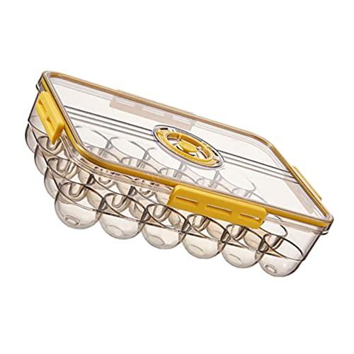 HEMOTON Caja de Almacenamiento de Huevos 24 Rejilla Bandejas de Huevos Envases de Plástico para Huevos Camping Portador para Huevos Senderismo Herramientas de Cocina Aire Libre
