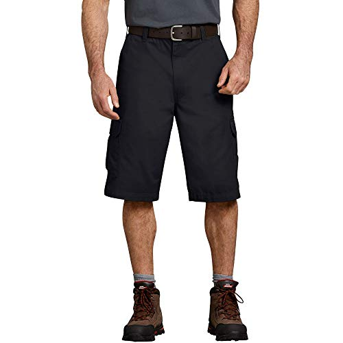 Dickies Mens 13 Inch Loose Fit Cargo Short, Black, 36