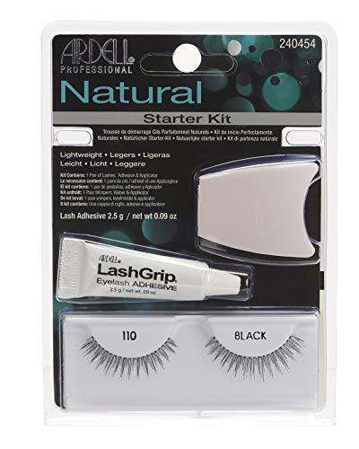 Ardell - Kit De Iniciación De Pestañas Postizas Fashion - Modelo Natural 110 - Color: Negro - Fácil Aplicación - Incluye Adhesivo Transparente - Modelo Best Seller! 66gr