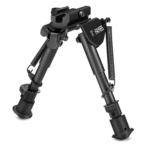 Fayees Carbon Fibre Bipod, with Quick Release Picatinny Weaver Mount, 6 to 9 Inches