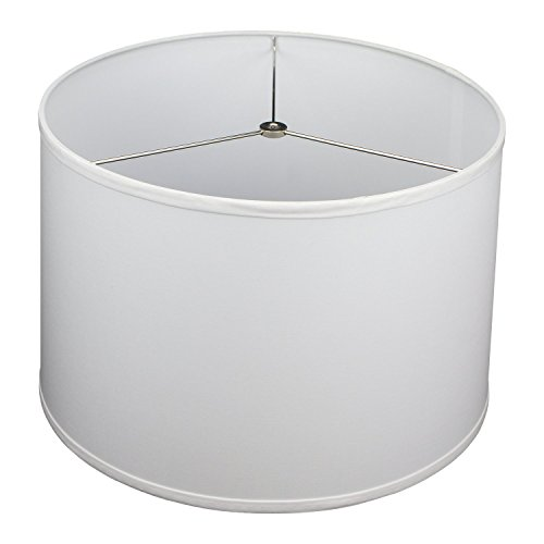 FenchelShades.com 16' Top Diameter x 17' Bottom Diameter x 11' Height Fabric Drum Lampshade Spider Attachment (White)