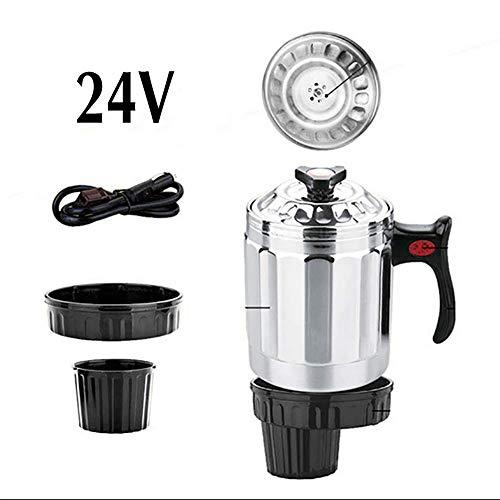 RUIX Auto Wasserkocher,Auto 1L Edelstahl 12V / 24V Wasserkocher/Heizbecher/Reiskocher,12V