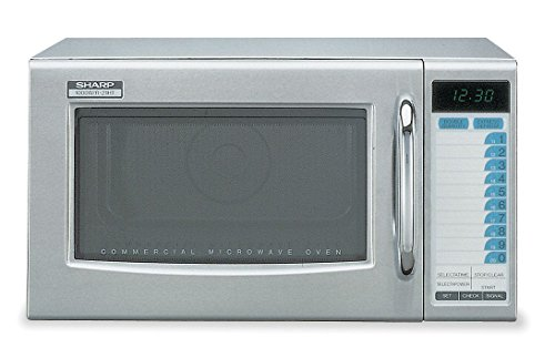 Sharp R-21-LTF - Commercial Microwave Oven, Medium Duty, 1000W, 1.0 Cu. Ft, Stainless Steel
