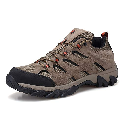 FANTURE Men's Lightweight Hiking Shoes Camping Shoes Outdoor Sneakers U419FSYDX002-Brown...