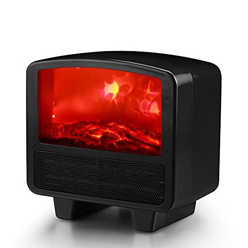 Calefactor Ceramico, Calentador Aire, Fallo de EnergíA de Alta Temperatura, Carcasa Retardante de Llama, Estufas de Aire Caliente para Calentadores EléCtricos DoméSticos,Negro