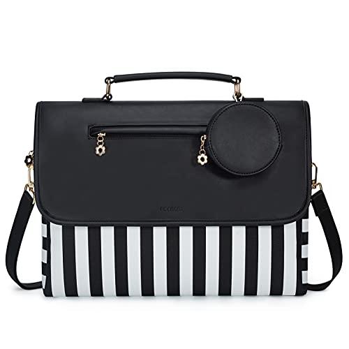 ECOSUSI Laptop Bag for Women 15.6 inch Computer...