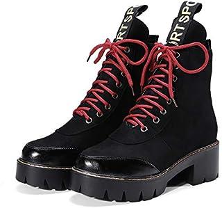 venta MENGLTX Sandalias Tacones Altos botas De Tobillo Tobillo Tobillo De Mujer Tacones Altos Gruesos Otoo Invierno Zapatos De Mujer Plataformas con Cordones Zapatos Casuales botas Cortas  venta al por mayor barato