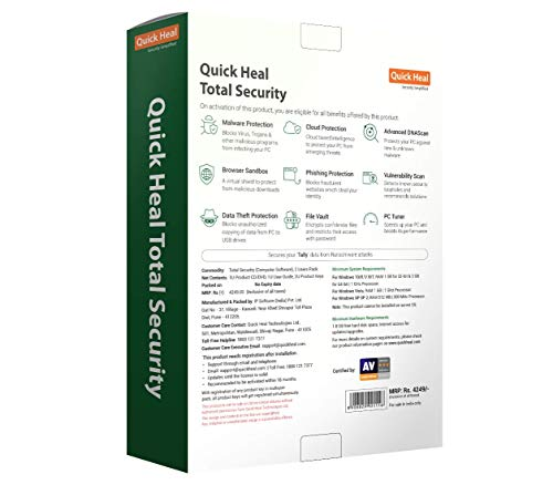 Quick Heal Total Security Latest Version - 2 PCs, 3 Years (DVD) 2