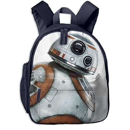 BB8 R2D2 Kids Backpacks School Bags for Boys Girls Pre School Bag Cute Cartoon Backpack Sized for Kindergarten, Preschool