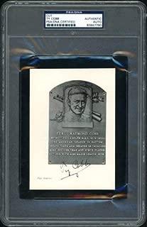 Ty Cobb Autographed 4X5.5 Magazine Photo Hof Plaque Postcard Detroit Tigers PSA/DNA #83847790