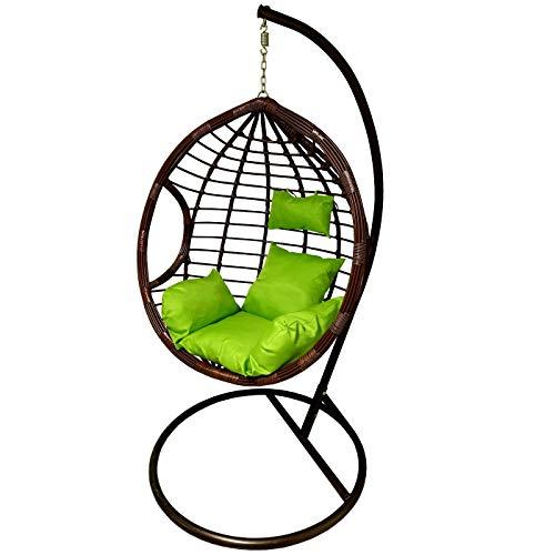 Silla Colgante de diseño Moderno para Porche, jardín o decoración Interior. Verde Liso.