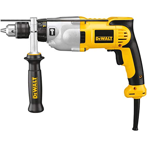 DEWALT Hammer Drill Kit, 1/2-Inch, 10-Amp, Pistol Grip...