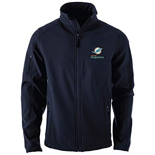Dunbrooke Apparel NFL Miami Dolphins Mens Sonoma Softshell JacketSonoma Softshell Jacket, Navy, 2X