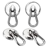 100LBS Magnetic Hooks, Strong Heavy Duty Neodymium Magnet Hooks with Swivel...