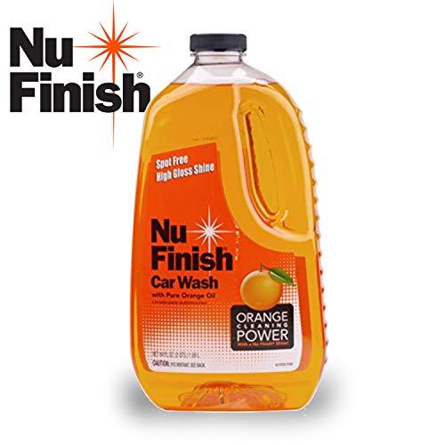Nu Finish Car Wash Soap, No Spots, Streaks or Harmful Ingredients, Unique Pure Orange Oil Formula Removes Tar, Tree Sap, Bugs, Bird Droppings, 64. Fluid_Ounces
