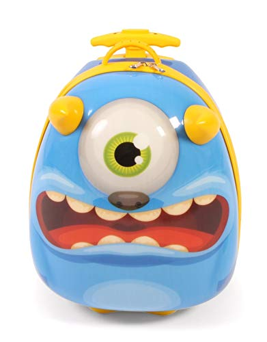Bayer Chic 2000 - Bouncie Kinder-Trolley mit 3D-Monster-Motiv Kindergepäck, 20 Liter, Blau