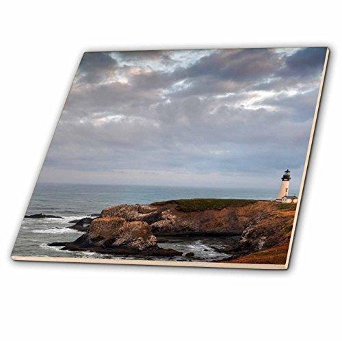 3dRose CT 93735_ 2Yaquina Head Lighthouse Near Newport, oregon-us38cha0125-chuck Haney-Ceramic Fliesen, 6