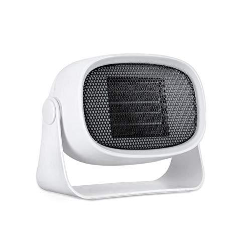 Best Bargain Air Conditioners CJC 500W Mini Portable Compact Fan PTC Ceramics 1 Heat Settings Adjust...