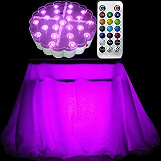 Donbala 6 Inch Rechargeable Table Centerpiece Light Base with 23 Super Bright Multi Color LEDs IR Remote Wedding and Floral Decoration Light …