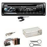 Pioneer DEH-S510BT Bluetooth Autoradio CD USB AUX MP3 FLAC AAC WAV Einbauset für Mercedes SLK R170 W208 W210