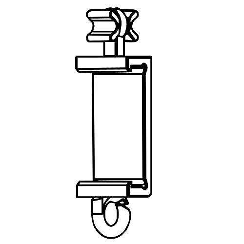 Clips Für Premium Paneelwagen mit den Maßen 25x2,5mm | Farbe Silber/Alu | zum Aufklipsen auf das Paneelwagenprofil (je Paar) (X-Gleiter 6mm)