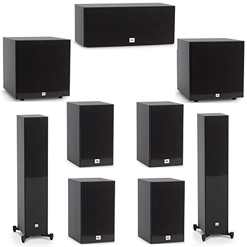 Lowest Prices! JBL 7.2 System with 2 JBL Stage A170 Floorstanding Speakers, 1 JBL Stage A125C Center...