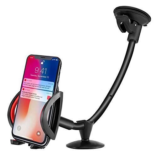 IPOW Auto Handyhalterung mit Langem Arm für Armaturenbrett Schwanenhals KFZ Handy Halter universal kompatibel mit iPhone X/8/8 Plus/7/7 Plus/6/6s Galaxy S8/S7/S6 Edge/S5 und andere Smartphones