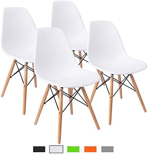 Best Furmax Pre Assembled Modern Style Dining Chair Mid Century Modern DSW Chair, Shell Lounge Plastic Ch