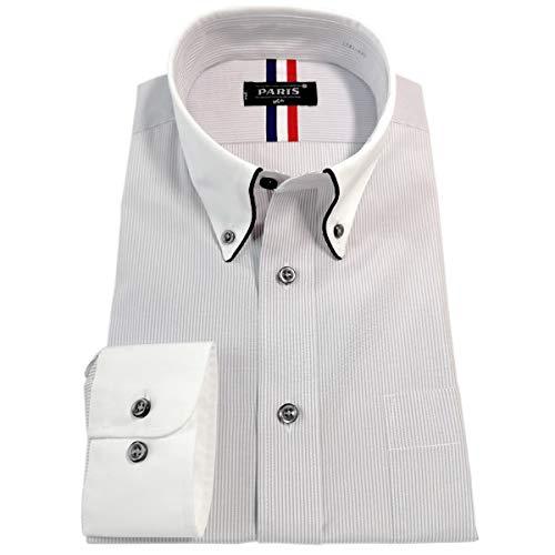 PARIS 16e(パリス16ク)『ワイシャツ メンズ 長袖 形態安定 ボタンダウン』