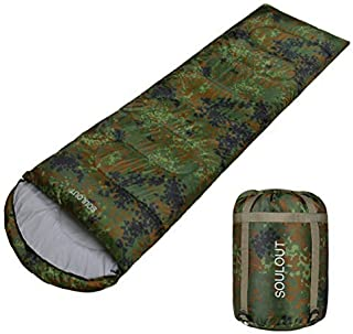 SOULOUT Sleeping Bag - 4 Seasons Warm Cold Weather Lightweight, Portable, Waterproof Sleeping Bag with Compression Sack fo...