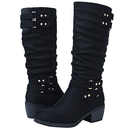 GLOBALWIN Women's 18YY03 Black Fashion Boots 8.5M