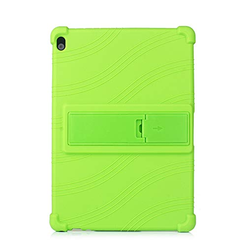 Oneyijun Green Stand Silicone Skin Pouch Protection Case Protective Cover Case for Lenovo Tab P10 M10 TB-X705 X605 X505 10.1 inch Tablet
