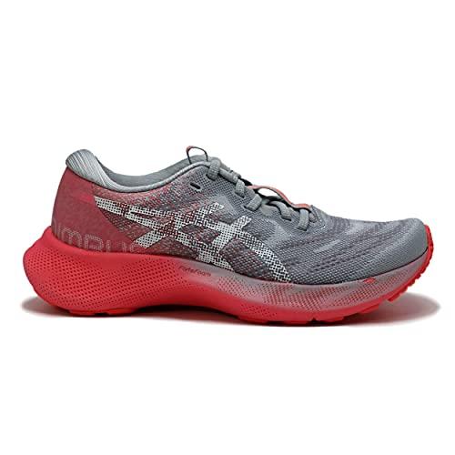 Asics Nimbus 23 Lite Show Zapatillas de Carretera para Mujer Gris Rosa 38 EU