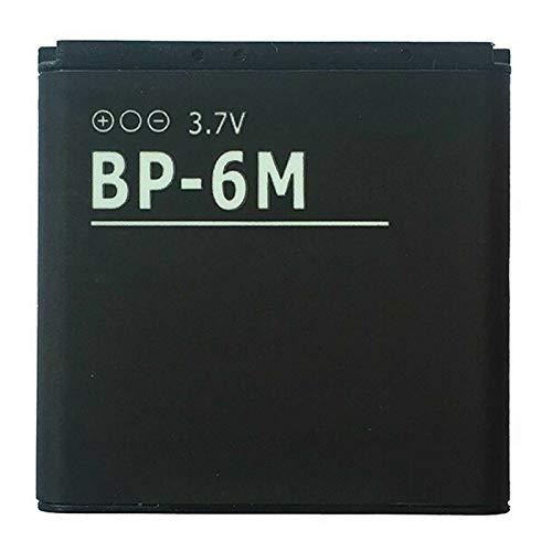Ellenne Batteria Compatibile con Nokia BP-6M BP6M N73 N93 9300 6280 Alta capacità 1100MAH