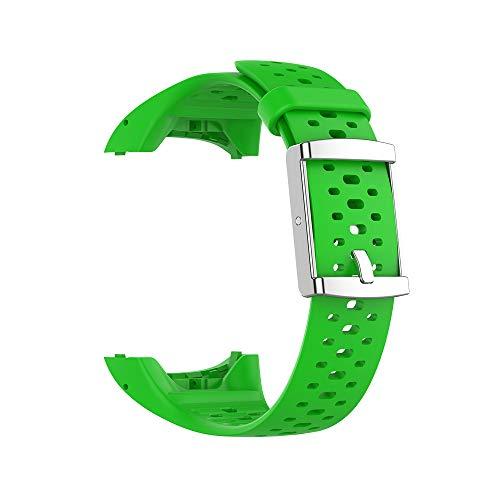 KINOEHOO Cinturino Compatibile con Polar M400 M430 Cinturini di Ricambio in Silicone.(verde)