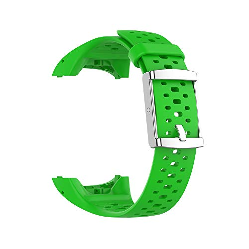 KINOEHOO Correas para relojes Compatible con Polar M400 M430 Pulseras de repuesto.Correas para relojesde siliCompatible cona.(Verde)