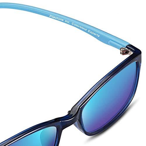 PILESTONE KINDER TP-030 (Typ B) farbenblinde Gläser für Kinder mit roter / grüner Farbenblindheit 6-10 Jahre - mäßiges, starkes und schweres Deutan und mäßiges, starkes Protan